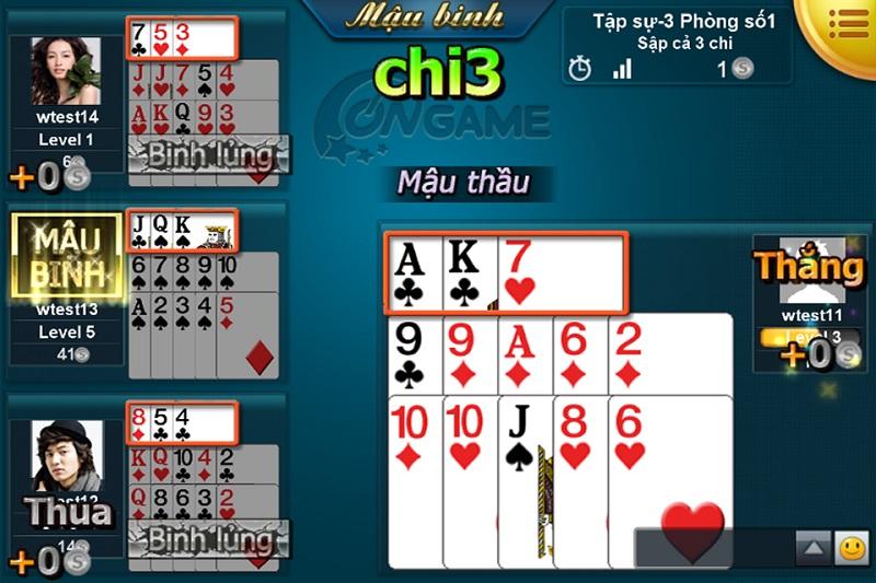 Phương pháp chơi Mậu Binh và Game đánh bài ở Bigkool Online