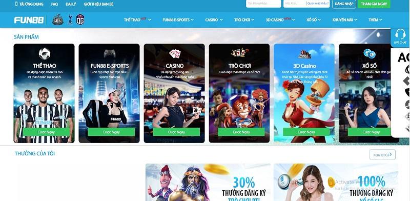 Nhà cái Fun88 – cổng game quốc tế đẳng cấp